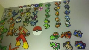 My Wall of Pokemon by theamazingfinder