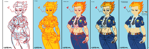 Humanized Spitfire MLP coloring by watergod159