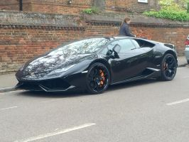 Black on black lambo front by Car-lover33