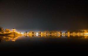 February nightscape in Hungary by adamcroh