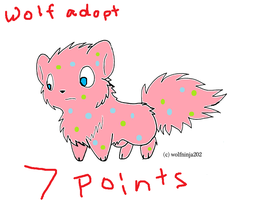 Wolf Adoptable 7 Points by emberstar13