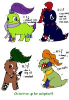 Chikorita Adoptables- CLOSED by SkittyKittyCat