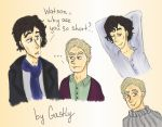 Sherlock sketches coloured by Gastly3