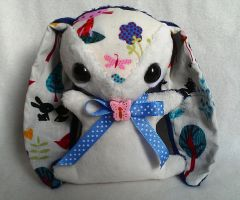 Bracken - Handmade Teacup Bunny Plush - For Sale by tiny-tea-party