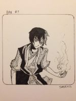 Inktober day #7: Zuko by TimTam13