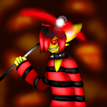 Redshard's evil grin (Le gift) by pileup-on-cwa