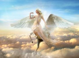 Pegaso heavenly Angel sunrise by FueledbypartII