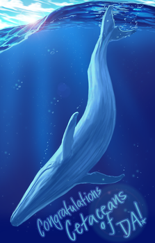 Blue Whale CONGRATS by useless-machine