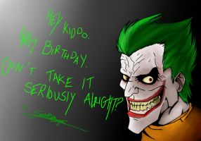 Happy Birthday from the Joker by SpiritOfOrigin