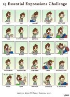 25 expressions of Supercrash by TheBourgyman