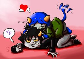 Nepeta: Pounce on Karkitty by Nintendo-Nut1