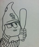 Start of Colorado Rockies Gnome outline by sampson1721