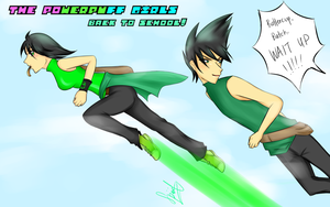 Back to School Contest: The Greens are the Fastest by kuraikitsune13