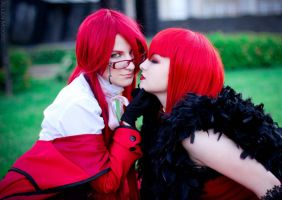 Grell Sutcliffe and Madame Red by AllenAkimotoRyoMoore