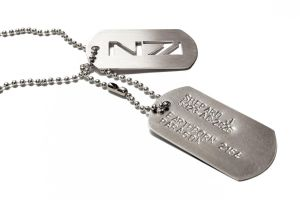 Mass Effect custom dogtags N7 military by FanFlail