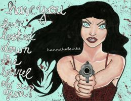 have you ever looked down the barrel of a gun? by handmadebyhannah