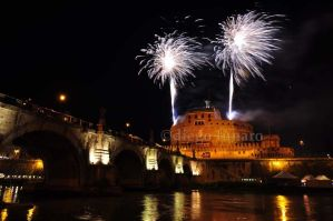 Saint Angelo Castle Fireworks by sciurulus