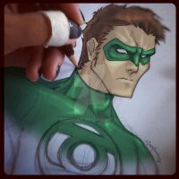 My Green Lantern in color by ZurdoSide