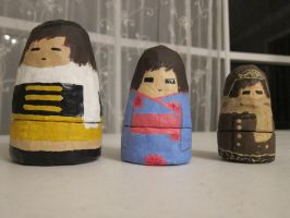 Russian Nesting Dolls of Me -front- by italktotherain
