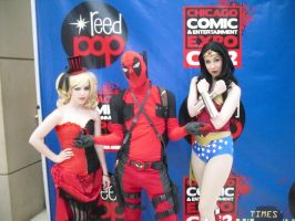 Harley and Wonder Woman are fans of mine by Darth-Slayer