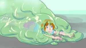 Girl Attacked by Slime 2 by Silkyfriction