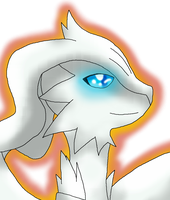 Commish - Reshiram Headshot by MidnightTheUmbreon
