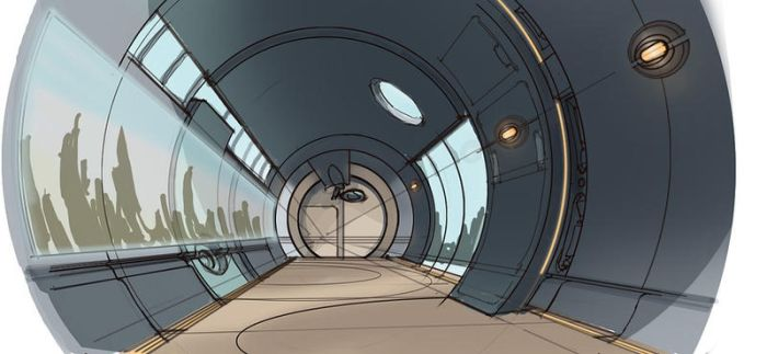 Ratchet and Clank - Max Space Station Corridor by rmohr