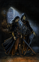 Raistlin and Dalamar by gwengivar