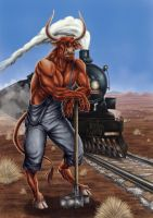 Minotaurs and railroads by ArthurGWG