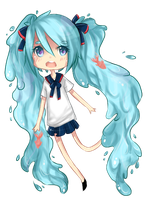 Bottle Miku by HeadphoneMonster