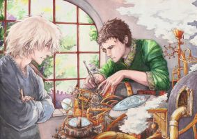 Siver and Yan in watercolor by Muh-a