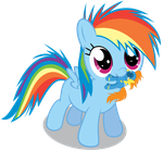 Filly Dashie Holdin' by Chubble-munch