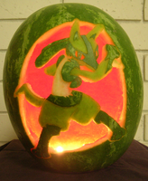 Lucario on a Watermelon Light by johwee