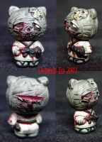 Hello Kitty Zombie Ninja Ooak by Undead-Art