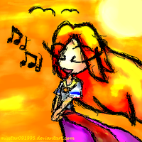 Singing at Sunset by MissStar091995