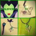 Maleficent inspired pendant by Sweetfairytalecrafts