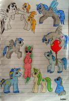 My Little Sketches - Group Picture by XcubX