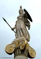 Statue of Goddess Athena by Elias-Chatzoudis