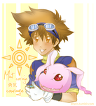 Taichi and Koromon by Enatis