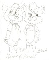 Harold and Henry Corgshire by TheOriginalSkunky