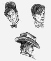 Eleventh Doctor Sketches by akatsukicloud227