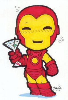 Chibi-Iron Man 2. by hedbonstudios