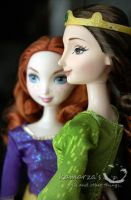 Merida and Quin Elinor by Mattel by kamarza