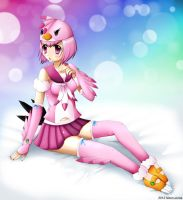 Angry Birds pink bird girl by Neon-Juma