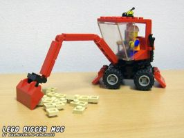 LEGO Digger MOC by ninjatoespapercraft