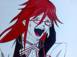 Grell, the ultimate fangirl by GanbareYo
