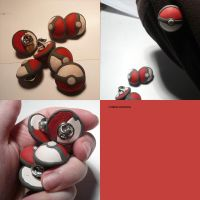Pokeball Pins by ChibiSilverWings