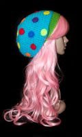 Sprinkle Berry Slouchy Beret by rainbowdreamfactory