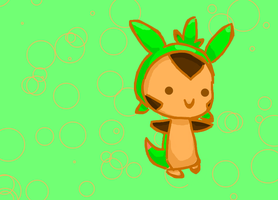 Chespin Chibi by Kat-The-Piplup