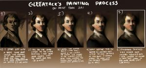 GleeAtack's Painting Process by GleeAtack